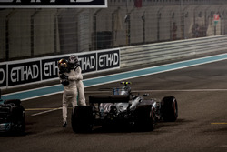 Race winner Second place Valtteri Bottas, Mercedes AMG F1 Lewis Hamilton, Mercedes AMG F1, celebrate