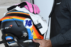 The helmet of Fernando Alonso, McLaren