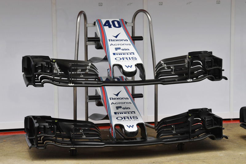 Williams FW41 nariz y alas delanteras