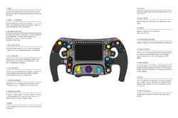 Mercedes AMG F1 W09 steering wheel drawing detail