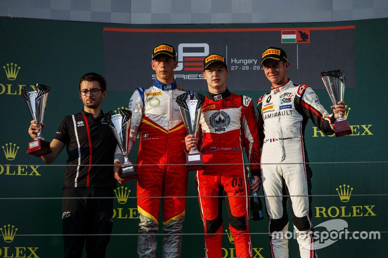 Pulcini, Mazepin et Hubert sur le podium