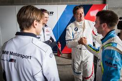 Pole sitters #43 BMW Team Schnitzer BMW M6 GT3: Augusto Farfus, Chaz Mostert, Marco Wittmann, #100 B