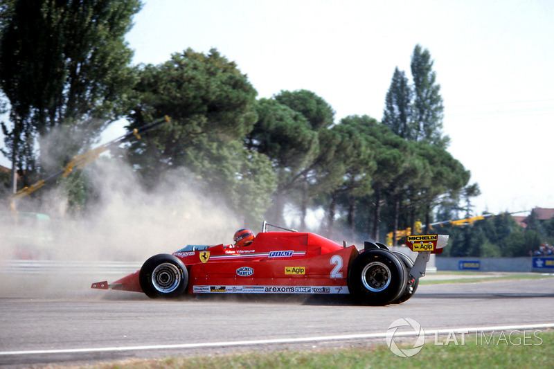 Gilles Villeneuve, Ferrari 126C in testacoda al GP d'Italia 1980