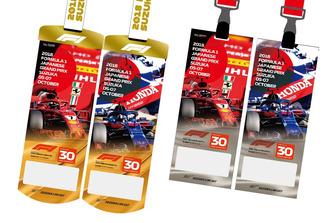 F1鈴鹿30回記念 アニバーサリーチケット。1番人気のフェラーリと2番人気のトロロッソ・ホンダ