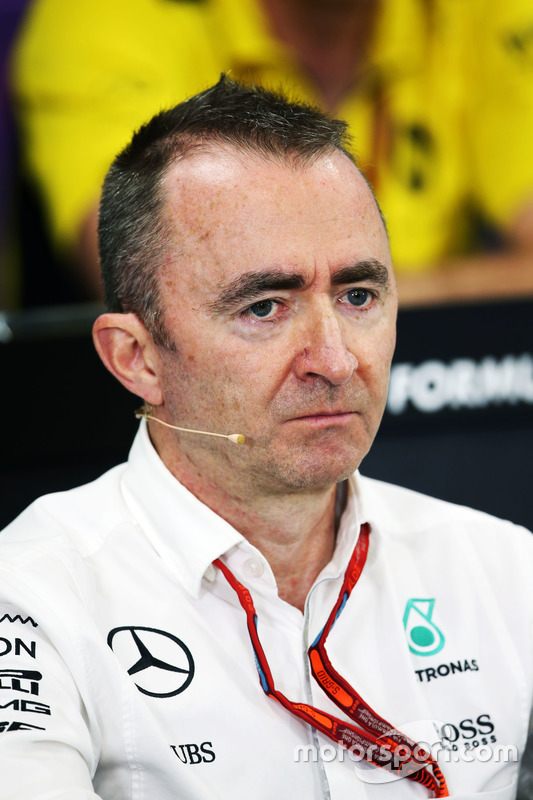 Paddy Lowe, Mercedes AMG F1 Executive Director (Technical) in the FIA Press Conference