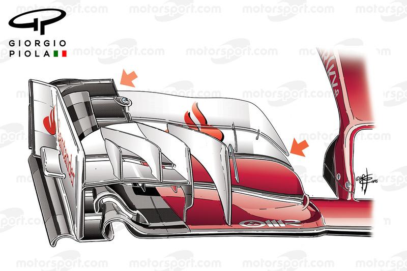 Ferrari SF16-H, Frontflügel, Grand Prix von Europa