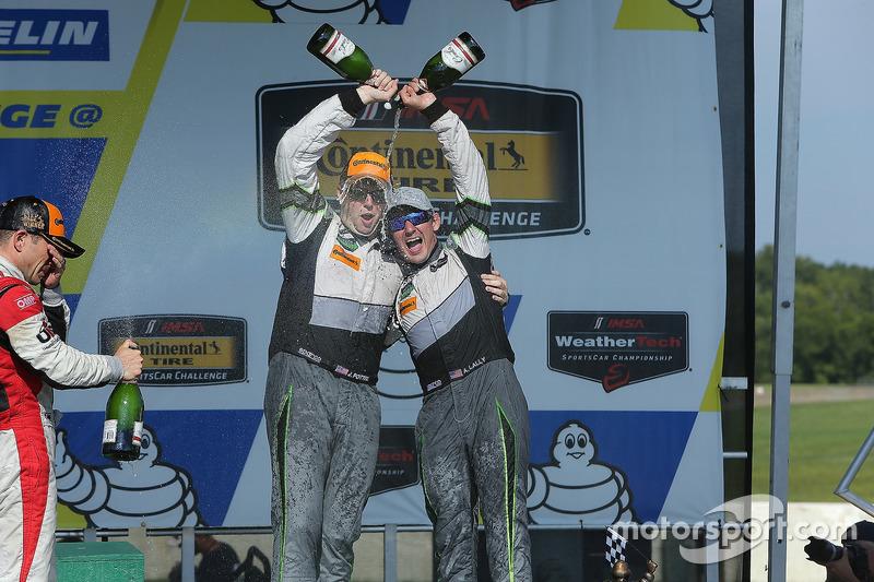 GTD Podium: third place John Potter, Andy Lally, Magnus Racing