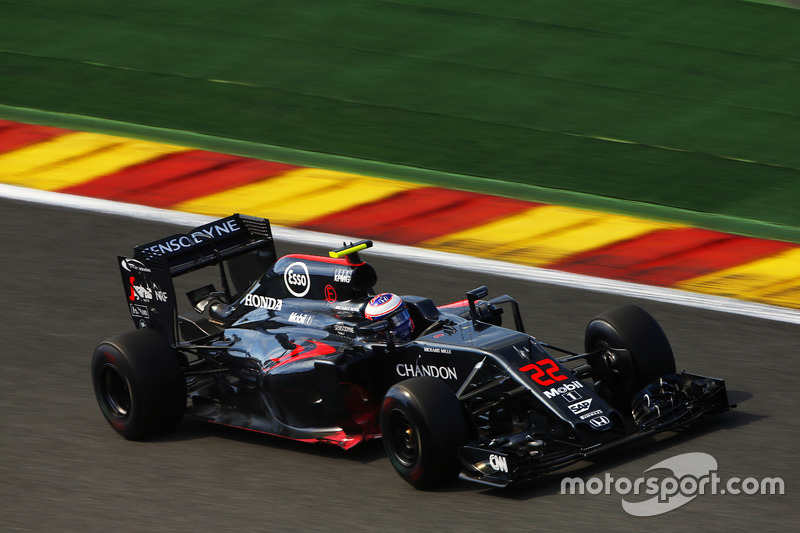 Jenson Button, McLaren in pista