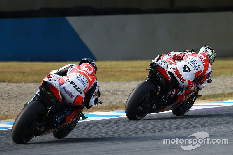 Danilo Petrucci, Pramac Racing; Scott Redding, Octo Pramac Racing