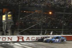 Martin Truex Jr., Furniture Row Racing Toyota takes the checkered flag