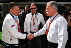 Dmitry Kozak, Deputy Prime Minister of the Russian Federation, Chase Carey, Chief Executive Officer and Executive Chairman of the Formula One Group