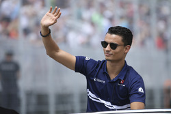 Pascal Wehrlein, Sauber, in the drivers parade