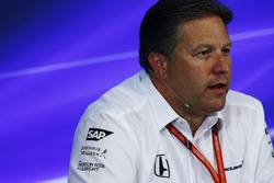 Zak Brown, Director Ejecutivo McLaren Technology Group, en la Conferencia de prensa FIA