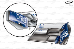 Williams FW31 2009 front wing endplate comparison