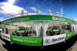 Skoda Motorsport team area