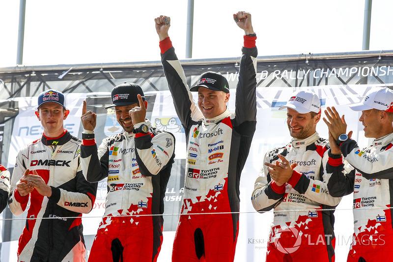 Podium: 1. Esapekka Lappi, Janne Ferm, Toyota Racing; 2. Elfyn Evans, Daniel Barritt, M-Sport; 3. Ju