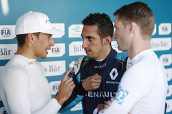 Sébastien Buemi, Renault e.Dams, Loic Duval, Dragon Racing, Maro Engel, Venturi, in Parc Ferme