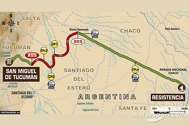 2. Etappe: Resistencia - San Miguel de Tucuman