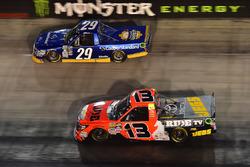 Chase Briscoe, Brad Keselowski Racing Ford, Cody Coughlin, ThorSport Racing Toyota