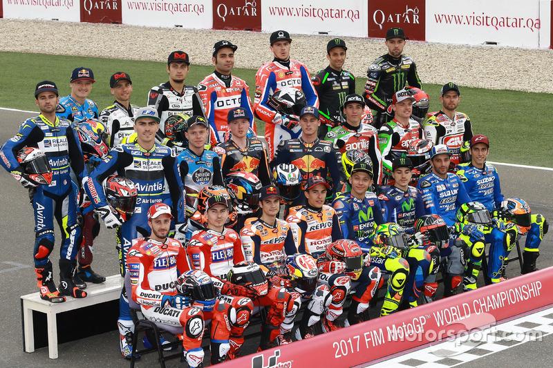 Todos los pilotos de MotoGP 2017