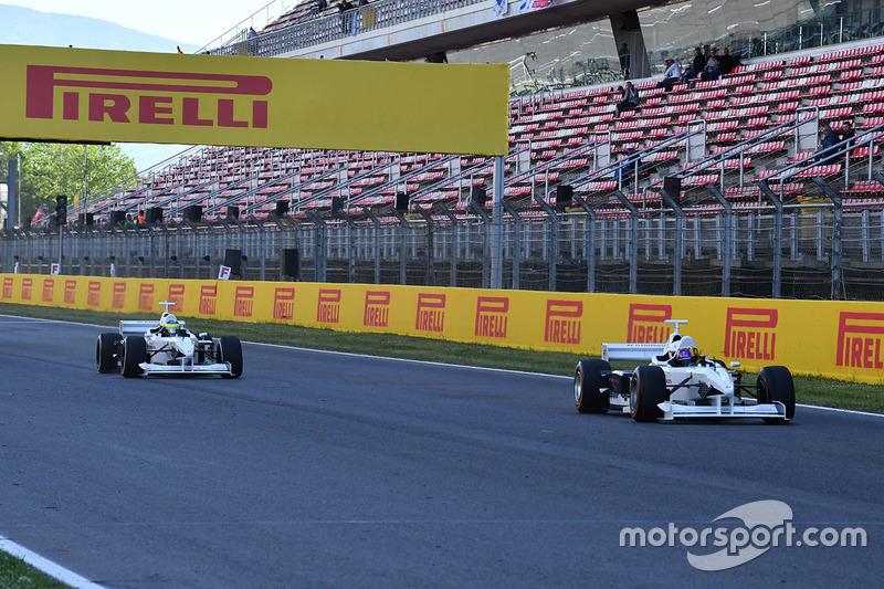 Patrick Friesacher, F1 Experiences 2-Seater driver and Frankie Muniz, Actor and Zsolt Baumgartner, F