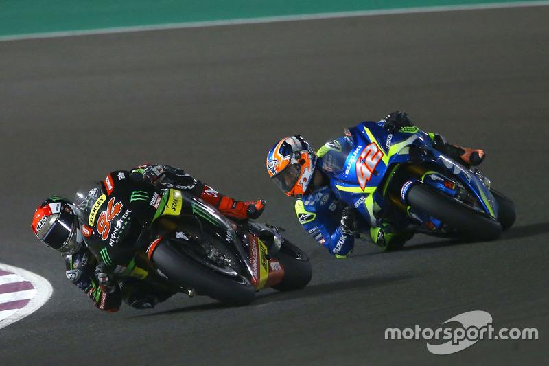Jonas Folger, Monster Yamaha Tech 3; Alex Rins, Team Suzuki MotoGP