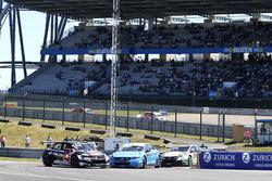 Action am Start: Rob Huff, All-Inkl Motorsport, Citroën C-Elysée WTCC; Nicky Catsburg, Polestar Cyan Racing, Volvo S60 Polestar TC1