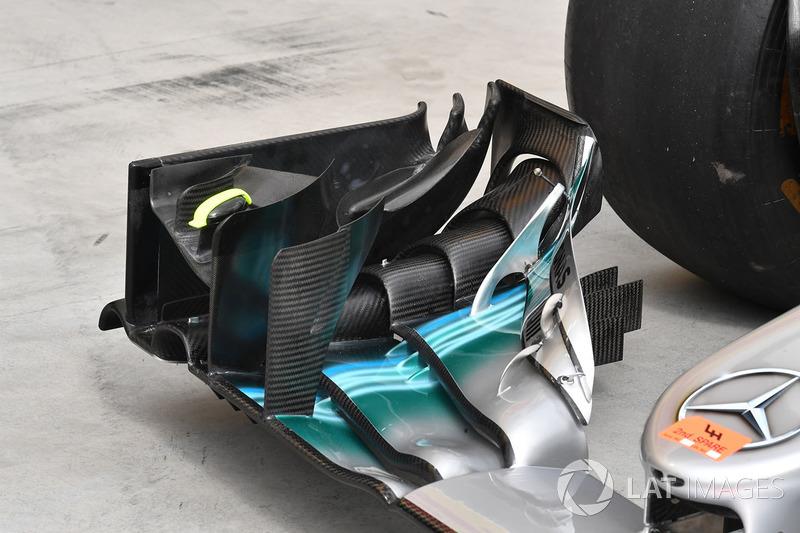 Mercedes F1 W08: Frontflügel