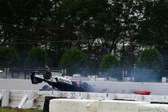 Crash: Pietro Fittipaldi, Dale Coyne Racing Honda