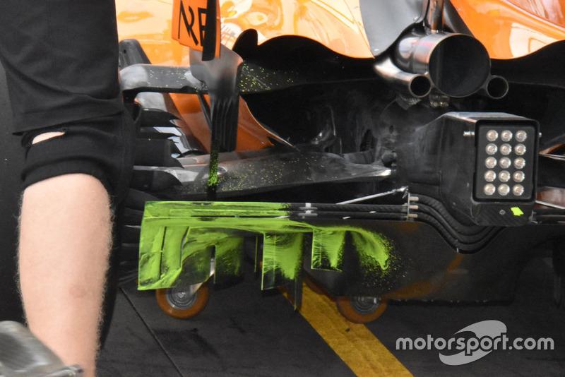 McLaren, diffúzor, részlet