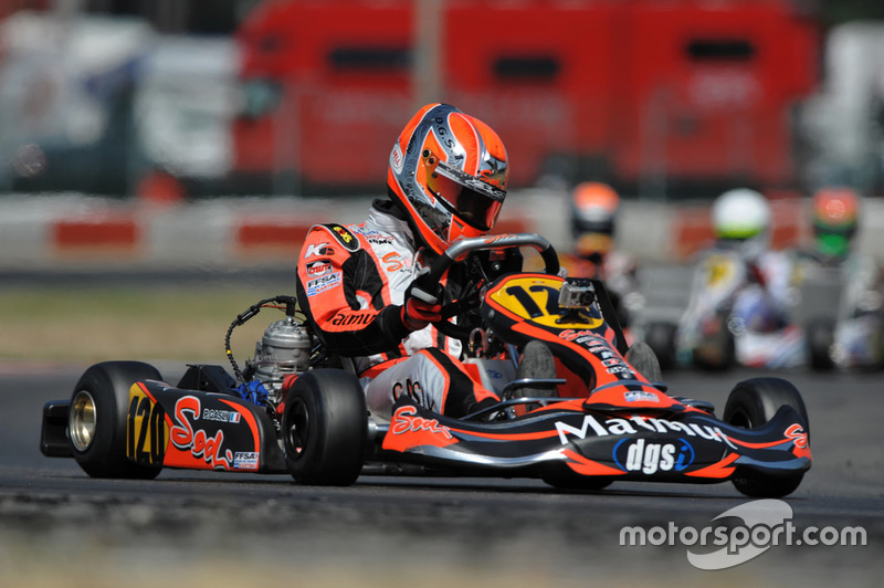 Pierre Gasly in de karting.