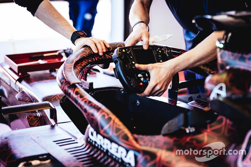 Alfa Romeo Racing, dettaglio del volante