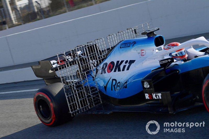 Williams FW42 with aero sensors