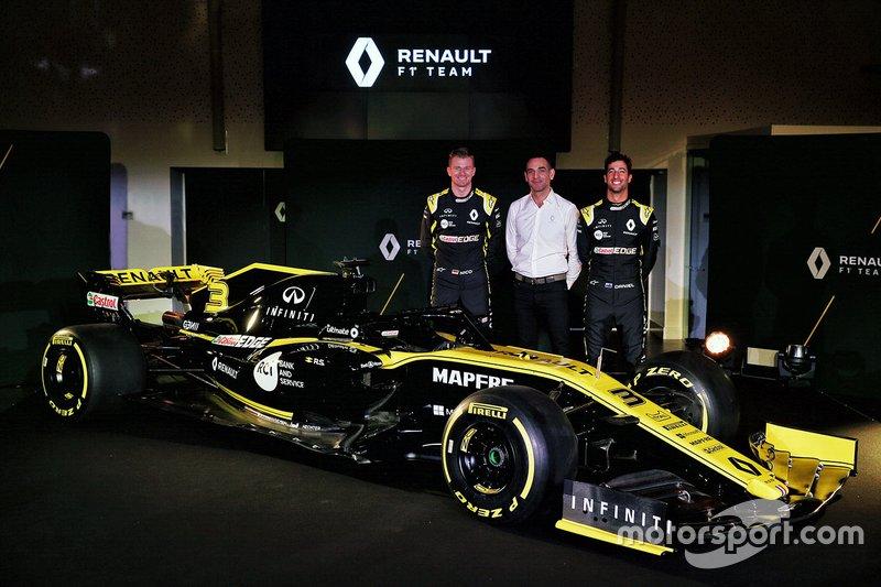 Daniel Ricciardo, Renault Sport F1 Team, Nico Hulkenberg, Renault Sport F1 Team, Cyril Abiteboul, directeur général