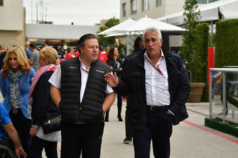 Zak Brown, McLaren Racing CEO and Lawrence Stroll, Racing Point Force India Team Owner