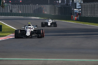 Sergey Sirotkin, Williams FW41 and Lance Stroll, Williams FW41