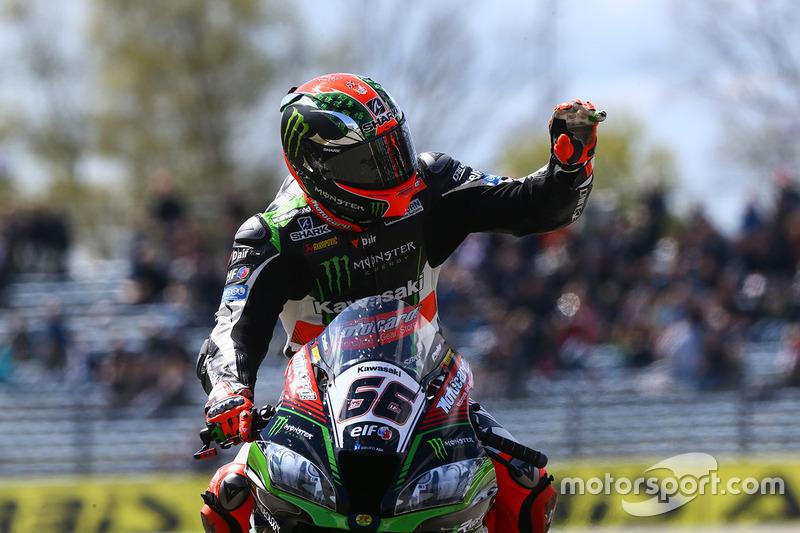 Segundo lugar Tom Sykes, Kawasaki Racing