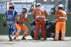 Alex Rins, Team Suzuki MotoGP after his crash