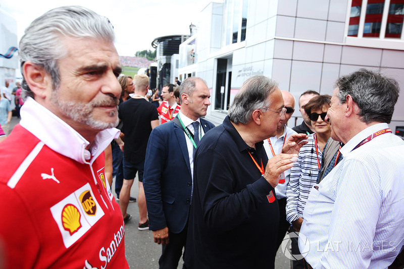 Maurizio Arrivabene, Ferrari-Teamchef; Sergio Marchionne, Ferrari-Präsident