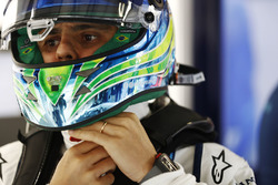 Felipe Massa, Williams, con la visiera del casco aperta