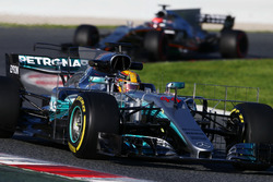 Lewis Hamilton, Mercedes AMG F1 W08 avec des équipements de mesure