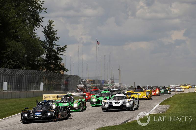 Старт: #10 Wayne Taylor Racing Cadillac DPi: Рікі Тейлор, Джордан Тейлор лідирують у гонці