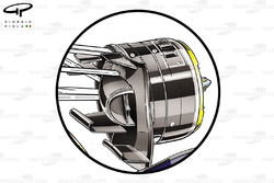 Red Bull RB10 front brake duct (old specification as reference)