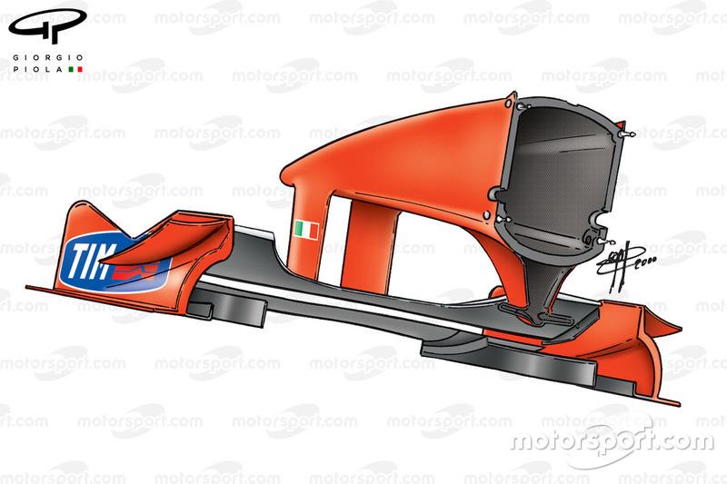 Ferrari F1-2000 (651) 2000, l'ala anteriore del Giappone