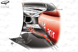 Ferrari F10 lowline exhaust, blowing the diffuser
