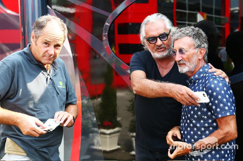 Gerhard Berger, ve Flavio Briatore ve Eddie Jordan