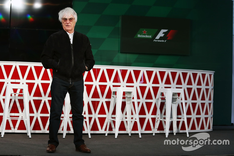 Bernie Ecclestone, anounces an F1 sponsorship deal with Heineken