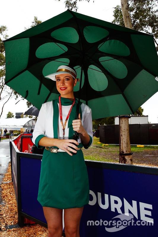 Modelo representando a Rolex se protege da chuva