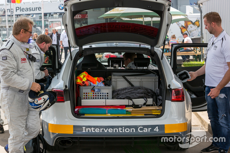 Audi Intervention Car being refueled