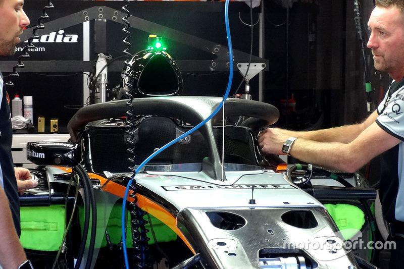Force India VJM09 con l'Halo che proverà Hulkenberg a Spa